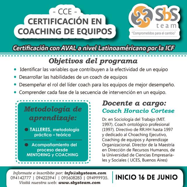 Certificación Coaching de Equipos Edición 2017