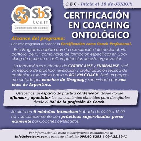 Comienzo CEC Certificación en Coaching Ontológico 2016