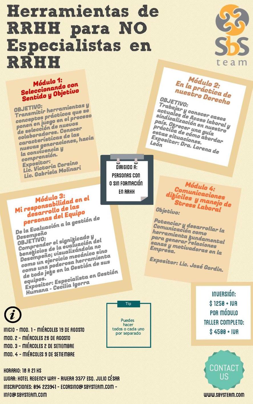 Herramientas de RRHH para NO Especialistas en RRHH